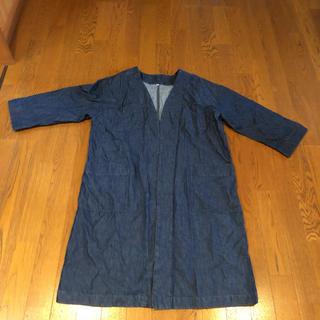 ムジルシリョウヒン(MUJI (無印良品))の無印 MUJI カーディガン デニム 羽織り 半端丈 コート(ロングコート)