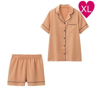ジーユー(GU)の◆ GU サテンパジャマ 半袖 ショートパンツ XL(パジャマ)