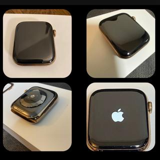 アップルウォッチ(Apple Watch)のApple Watch 4 Cellular 44mm ゴールドステンレス(腕時計(デジタル))