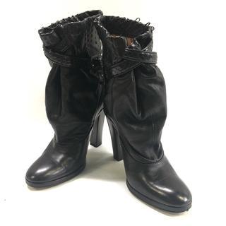 ロエベ(LOEWE)のロエベ ショートブーツ 36 レディース 黒(ブーツ)