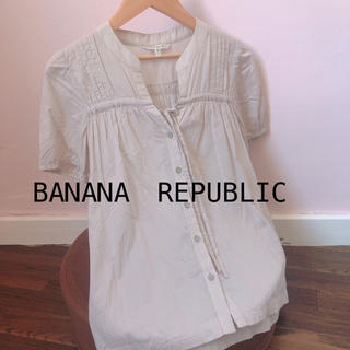 バナナリパブリック(Banana Republic)のbanana republic バナナリパブリック 半袖ブラウス(シャツ/ブラウス(半袖/袖なし))