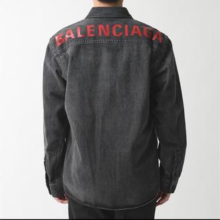 バレンシアガ(Balenciaga)のBALENCIAGA バレンシアガ バックロゴ シャツ 40 新品(シャツ)