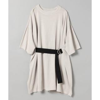 ジーナシス(JEANASIS)のJEANASIS ジーナシス フロントベルトBIG TEE 大きめTシャツ(Tシャツ(半袖/袖なし))
