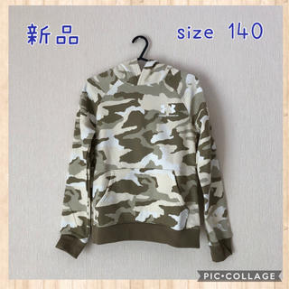 UNDER ARMOUR - 新品☆ Under Armour カモフラ柄パーカー 140カーキ