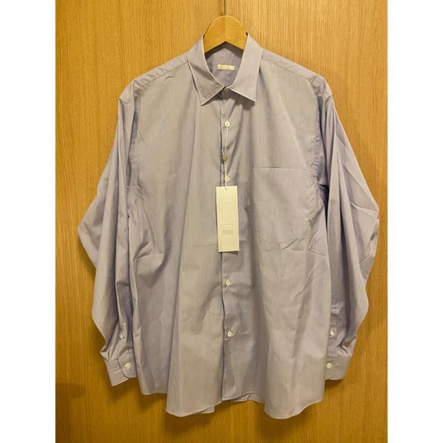 COMOLI(コモリ)のCOMOLI 20AW 新作 ポプリンシャツ サイズ3 サックス 新品未使用 メンズのトップス(シャツ)の商品写真