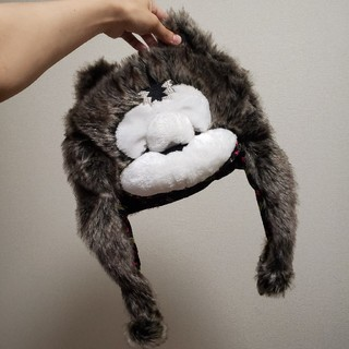 マンウィズアミッション(MAN WITH A MISSION)のオオカミ帽子(ぬいぐるみ)
