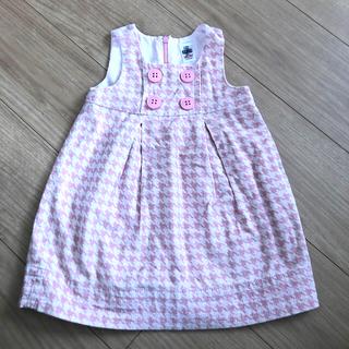 ザラキッズ(ZARA KIDS)の★ZARAbaby★ピンクジャンパースカート 86cm(ワンピース)