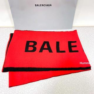 バレンシアガ(Balenciaga)の国内正規品 バレンシアガ ロゴ マフラー 赤 2018AW 極美品!(マフラー)