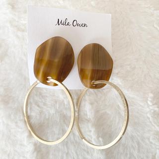 ミラオーウェン(Mila Owen)の新品Mila Owenミラオーウェン素敵な真鍮天然石イヤリング(イヤリング)