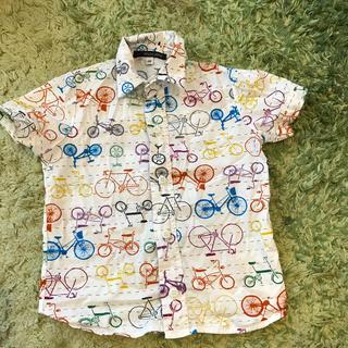 自転車柄 シャツ 100cm  ブラジル土産(Tシャツ/カットソー)