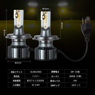 Futwod ヘッドライト フォグランプ H4 HB2 9003 LED 黄色 (天井照明)