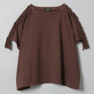 ジーナシス(JEANASIS)のマクラメフリンジTシャツ(Tシャツ(半袖/袖なし))