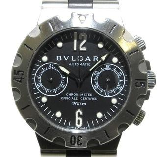 BVLGARI - ブルガリ 腕時計 SCB38S メンズ 黒