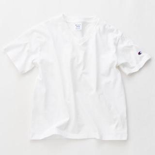 Champion - チャンピオン Vネック Tシャツ ホワイト CW-M323 半袖 コットン