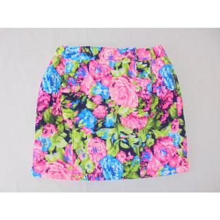 バナナチップス(BANANA CHIPS)のBANANA CHIPS カラフル ミニスカート 140㎝ DFB0010(スカート)