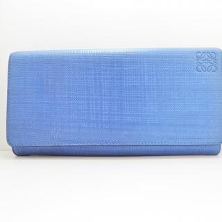 ロエベ(LOEWE)のロエベ 長財布 - ネイビー 型押し加工(財布)