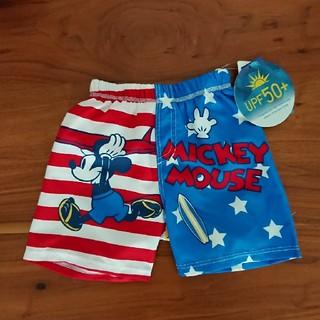 ディズニー(Disney)の新品 90㎝ ディズニー ミッキーマウス 男の子 水着(水着)
