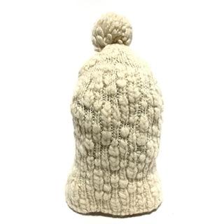 パーリーゲイツ(PEARLY GATES)のパーリーゲイツ ニット帽 FR アイボリー(ニット帽/ビーニー)