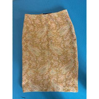 【値下げ】 ゴブラン織デザイン タイトスカート(ひざ丈スカート)