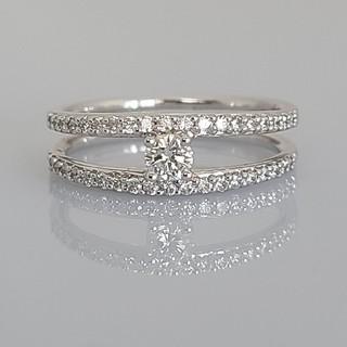 ☆新品☆K18 18金 ホワイトゴールド ダイヤモンド リング(リング(指輪))