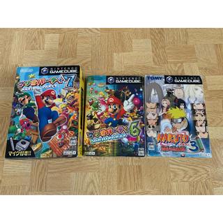 ニンテンドーゲームキューブ(ニンテンドーゲームキューブ)のマリオパーティー6&7 NARUTO-ナルト-激闘忍者大戦3 セット売り(家庭用ゲームソフト)