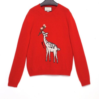 グッチ(Gucci)のGUCCI キリン ウールセーター 未使用(トレーナー/スウェット)