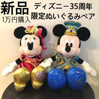 Disney - 新品■ディズニー 35周年 限定 ミッキー ミニー ぬいぐるみ Disney