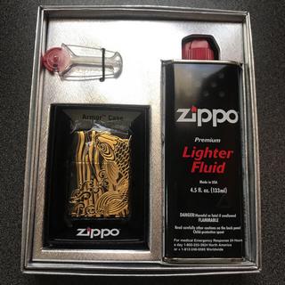 ジッポー(ZIPPO)のZIPPO  ジッポーオイルライター アーマー 昇鯉(タバコグッズ)