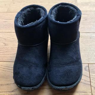 アンパサンド(ampersand)のAMPERSANDアンパサンド子供靴 キッズ ブーツ19㎝黒 ブラック ブリーズ(ブーツ)