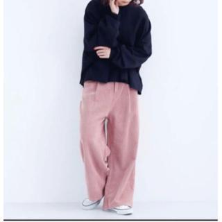 メルロー(merlot)の新品 merlot コーデュロイ ワイドパンツ くすみピンク(カジュアルパンツ)