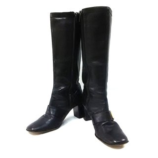 ルイヴィトン(LOUIS VUITTON)のルイヴィトン ロングブーツ 36 1/2 黒(ブーツ)