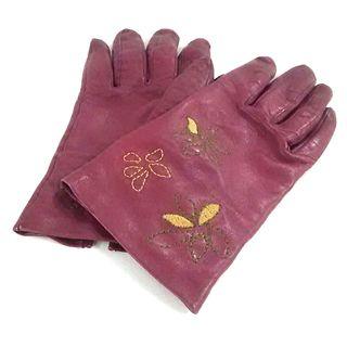 シビラ(Sybilla)のシビラ 手袋 レディース ボルドー レザー(手袋)