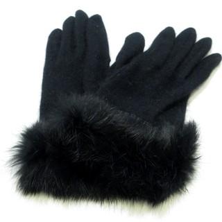 バーバリー(BURBERRY)のバーバリー 手袋 レディース新品同様  黒(手袋)