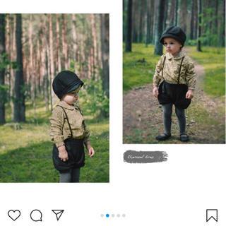 プティマイン(petit main)のベビー キャスケット ブラック(帽子)