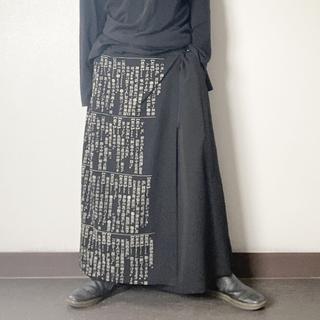 ヨウジヤマモト(Yohji Yamamoto)の着画あり!!名作!19AW ヨウジヤマモト 辞書 ラップ巻きワイドスラックス(スラックス)