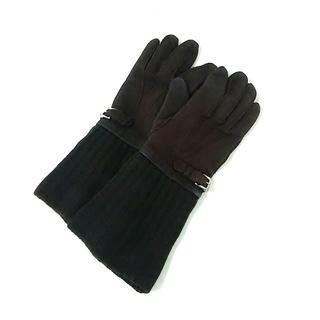 ロエベ(LOEWE)のロエベ 手袋 レディース ダークブラウン(手袋)