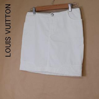 ルイヴィトン(LOUIS VUITTON)のLOUIS VUITTON ルイヴィトン 38 イタリア製 ミニスカート(ミニスカート)