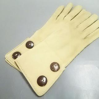 フォクシー(FOXEY)のフォクシー 手袋 7 レディース ベージュ(手袋)