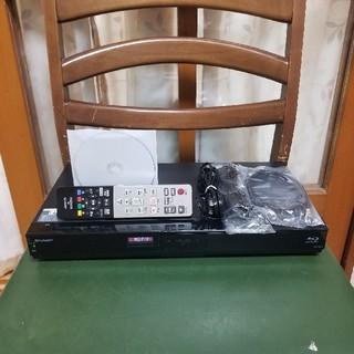 シャープ(SHARP)の格安!新品同様完動美品!W録!3D1TB外付HDDシャープBD-W1300(ブルーレイレコーダー)