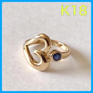 K18リング  サファイアリング  ピンキーリング(リング(指輪))