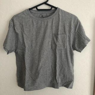 アースミュージックアンドエコロジー(earth music & ecology)のグレー Tシャツ(Tシャツ(半袖/袖なし))