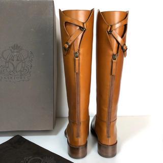 サルトル(SARTORE)の美品 38 SARTORE シングルベルト  ロングブーツ  ブラウン 24.5(ブーツ)