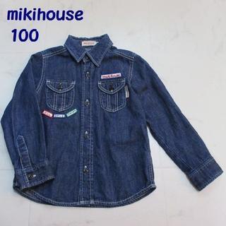 ミキハウス(mikihouse)の【美品】mikihouse / ミキハウス デニムシャツ 100(ブラウス)