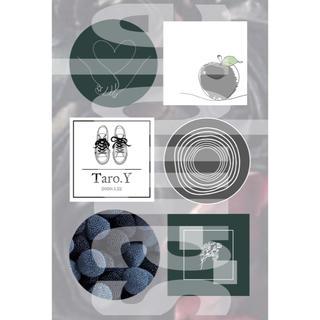 3-① メンバーカラー メンカラ ネップリ ネットプリント 黒系 1枚(カード/レター/ラッピング)
