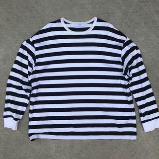 コモリ(COMOLI)のGraphpaper Border L/S Tee  サイズ 1(Tシャツ/カットソー(七分/長袖))