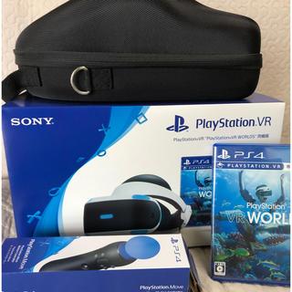 プレイステーションヴィーアール(PlayStation VR)の新PSVR WORLDS 同梱版 モーションコントローラー PSVRケース付き(その他)