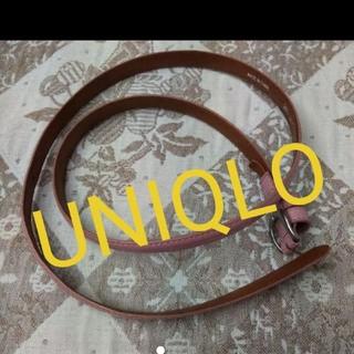 ユニクロ(UNIQLO)のピンクベルト レディースベルト 細ベルト UNIQLO ユニクロ(ベルト)