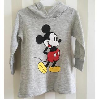 ディズニー(Disney)のDisney(ディズニー) ミッキーマウス パーカートレーナーワンピース90cm(ワンピース)