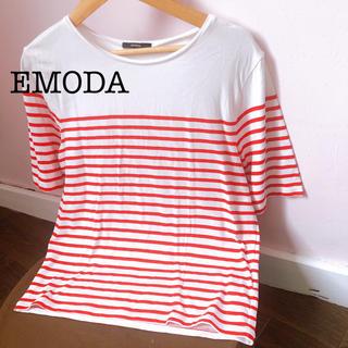 エモダ(EMODA)のEMODA エモダ ボーダー カットソー(カットソー(半袖/袖なし))