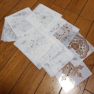 ハンドメイド/アートに!曼陀羅ステンシル(型紙/パターン)